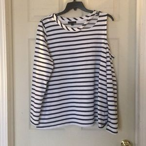 Women's Cold Shoulder Stripe Top 18/20